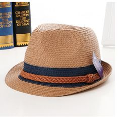 2016 Summer Vintage Fashion Foldable Striped Contrast Straw Sunscreen  Panama Hat 3 Colors 2d9e47cc275