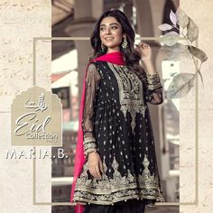 """c36925b3f9 B. on Instagram: """"Embark on a classic journey 🚞 of ceremonial designs and  luxe fabrics 🕊 with MARIA.B's Pret Eid collection 2018 """"VIRASAT"""" ..."""