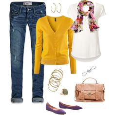 """Purple+Yellow"" by jill-hammel on Polyvore"