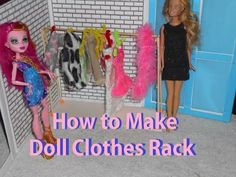 How to Make: Doll Clothes Rack – Doll Crafts - YouTube