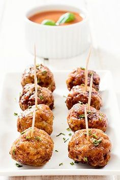 Party Meatballs - Air Fryer Recipes at http://thehealthykitchenshop.com