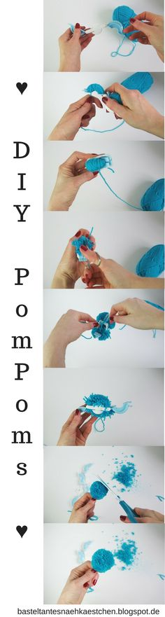 tutorial pompoms bommel selber machen pompoms bommel und selber machen anleitungen. Black Bedroom Furniture Sets. Home Design Ideas