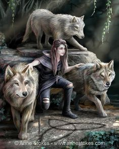 The Power of Three. Puzzle Size: x Art by. The Power of Three. Puzzle Size: x Art by… Eurographics puzzles. The Power of Three. Puzzle Size: x Art by Anne Stokes. Gothic Fantasy Art, Fantasy Wolf, Beautiful Fantasy Art, Fantasy Girl, Fantasy Artwork, Medieval Fantasy, Final Fantasy, Mythical Creatures Art, Fantasy Creatures