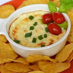 """Quick and Easy White Cheese Dip 