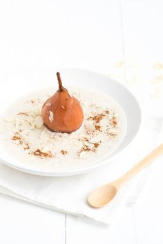 oatmeal with stewed pear