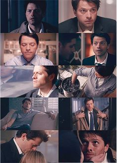 Misha Collins as Castiel. as Jimmy? Misha as Jimmy as Castiel! Supernatural Season 4, Supernatural Destiel, Matt Cohen, Mark Sheppard, Sam Winchester, Winchester Brothers, Misha Collins, Jared Padalecki, Jensen Ackles