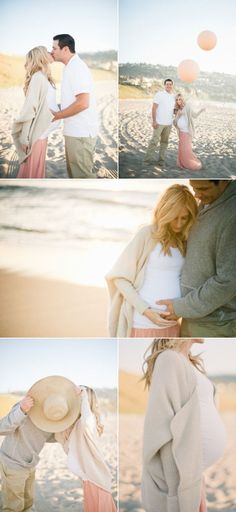 "Pregnancy photo shoots are usually awkward   and cheesy, but These are sweet pictures. And it goes with my beach ""theme""   thing I have going. I did my pregnancy reveal at the beach so it kind of seems   fitting to do beach maternity shots :)"