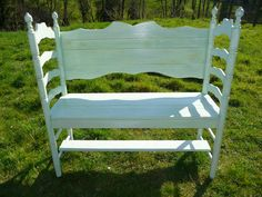 Hand made wooden chair bench from reclaimed by TheWoodCaboodle, $285.00