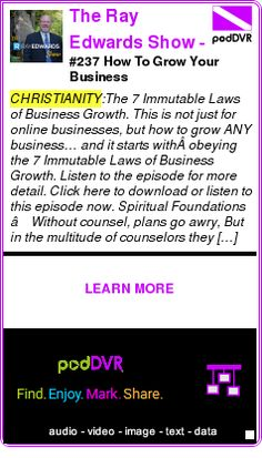 #CHRISTIANITY #PODCAST  The Ray Edwards Show - How to Start, Run, and Grow Your Own Internet Based Business   Copywriter   Copywriting   Direct Response   Mark    #237 How To Grow Your Business    HEAR:  http://podDVR.COM/?c=3ca50d2d-1f90-4ec6-ef6a-fac4f62bc2c4