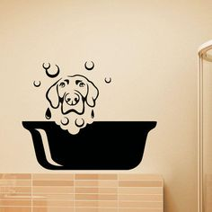 Dog Wall Decal Pets Grooming Salon Decals Vinyl Sticker Dog Puppy Pet Shop Animal Decor Kids Nursery Baby Room Wall Art from WisdomDecals on Etsy.