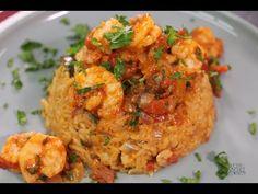 Arroz con camarón   Jorge Velasco   Lucero Vilchez Cocina - YouTube