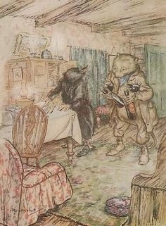The Wind in the Willows - Ratty and Mole ill. by Arthur Rackham whose illustrations for this are definitely the best in my view!