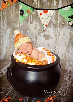 """""""Witch's Candy Corn Brew"""" Baby Photo!"""