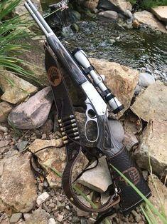 Bear Paw stock wrap and sling — Buffalo Brand Leather Weapons Guns, Guns And Ammo, Armas Wallpaper, Buffalo Brand, Leather Rifle Sling, Lever Action Rifles, Browning Lever Action, Custom Guns, Military Guns