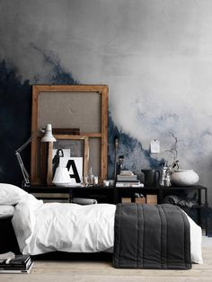 Watercolor Landscape Mountain Fog Removable Wallpaper Peel and Stick Self Adhesive Watercolor Wall Covering Wall Decal Wall Decor Master Bedroom, Bedroom Decor, Bedroom Ideas, Men Bedroom, Watercolor Walls, Watercolor Landscape, Watercolor Wallpaper, Landscape Paintings, Forest Wallpaper