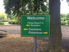 IRS Narborough Fisheries welcome sign, digitally printed sign face.