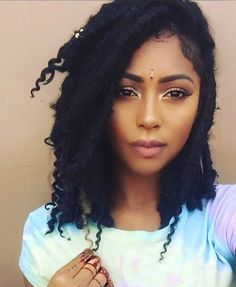 Short Goddess Locs..<3 the highlight <3 the Bindi