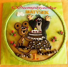 krtek s dortem - Hledat Googlem Thomas And Friends, Birthday Cake, Cakes, Children, Desserts, Inspiration, Food, Young Children, Tailgate Desserts