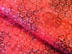 red tulip batik design fabric