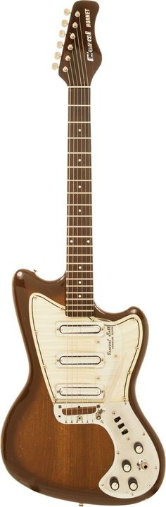Musical Instruments:Electric Guitars, 1968 Coral Hornet Sunburst Solid Body Electric Guitar.... Image #1