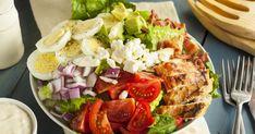 Salad Toppings, Salad Bar, Cobb Salad, Tuna Salad, Chicken Salad, Ensalada Cobb, Dieta Dash, Feta, Dash Diet Recipes