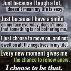 """Someone asked me once why I was so stinkin' happy all the time. And was it fake. My answer... """"Because I choose to be that"""". No, I never fake anything ;)"""