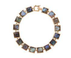 Nak Armstrong - Large Labradorite Mosaic Link Bracelet in Designers Nak Armstrong Bracelets at TWISTonline