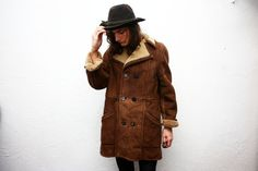 Vintage 1970s Shearling SheepSkin Coat by ThePenduline on Etsy, €95.00