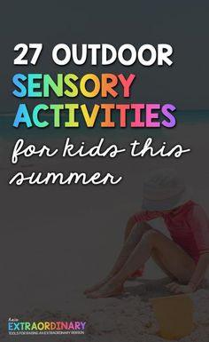 27 Outdoor Sensory Activities for Kids This Summer - These are simple ways to get your kiddos outside and stimulate their senses, promoting health cognitive development #SensoryActivities #SensoryPlay #FamilyActivities Sensory Art, Sensory Activities, Toddler Activities, Kid Yoga, Yoga For Kids, Physical Education Games, Health Education, Preschool At Home, Preschool Ideas