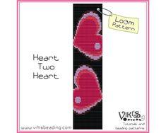 Loom Bead Pattern  Heart Two Heart   INSTANT DOWNLOAD pdf