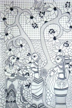 Madhubani Art - Painting by Yoshita Bhatti in My Scrapbook at touchtalent 55688