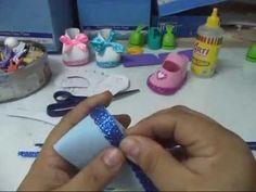 como hacer 3 modelos de zapatitos en fomi o goma eva