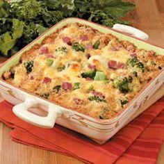 Cheesy Broccoli Cauliflower Casserole #Tastebudladies #Broccoli #Sidedish