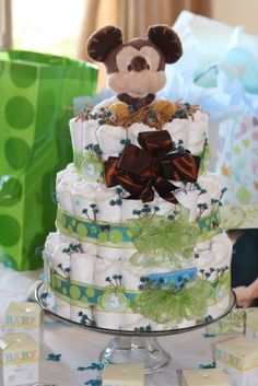 Baby Boy Diaper Cakes | The Project Table: Baby Boy Diaper Cakes