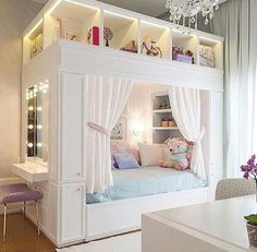 Mädchenzimmer: 75 Mädchenzimmer Ideen mit Fotos Girls room: 75 girls room ideas with photos # Roof sloping paint Related posts: Sewing projects for teens room decor girls bedroom New ideas Light Up Headboard Cute Bedroom Ideas, Cute Room Decor, Girl Bedroom Designs, Room Ideas Bedroom, Awesome Bedrooms, Cool Rooms, Girls Bedroom, Bedroom Decor, Kids Bedroom Ideas For Girls
