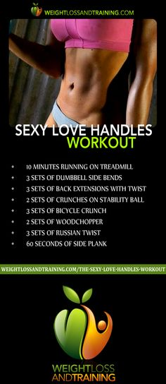 The Sexy Love Handles Workout, view full workout and instructions here - http://weightlossandtraining.com/the-sexy-love-handles-workout