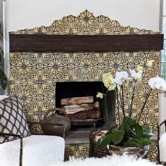 5 Gifted Clever Hacks: Living Room Remodel With Fireplace Rugs living room remodel on a budget cabinet colors.Living Room Remodel Ideas Interiors living room remodel before and after awesome.Living Room Remodel Before And After Islands. Fireplace Tile Surround, Home Fireplace, Living Room With Fireplace, Fireplace Surrounds, Fireplace Design, My Living Room, Fireplace Tiles, Corner Fireplaces, Fireplace Remodel