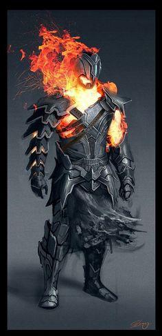 Fire humanoid