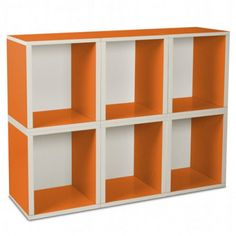 We love this modern, colorful storage solution - perfect for a nursery or playroom!