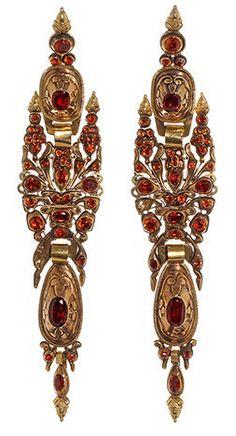 Iberian Hessonite Garnet Earrings