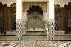 Arabic Mosaic in a wall in Alhambra, Granada, Spain