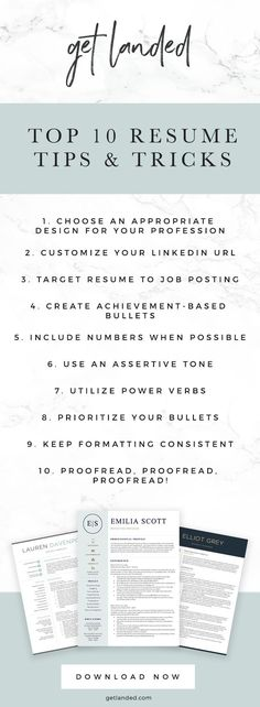 Get Landed: Professional Resume Template Designs & Resume Writing Tips Resume Advice, Resume Writing Tips, Resume Writer, Resume Help, Resume Profile, Best Resume Format, Resume Design Template, Resume Templates, Job Interview Tips
