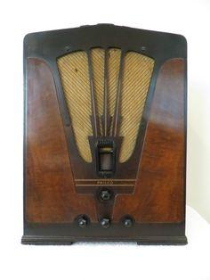 Vintage 1930s Old Art Deco Depression Era Antique 11 Tube Radio Still Plays | eBay