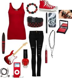 """Red"" by lillybug-621 ❤ liked on Polyvore"