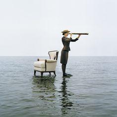 Rodney SMITH :: Zoe on Water with Armchair, Sherwood Island, Westport, Connecticut, 2004
