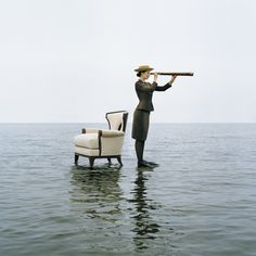 Rodney SMITH :: Zoe on Water with Armchair, Sherwood Island, Westport, Connecticut, 2004