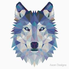 Geometric Wolf | Sticker