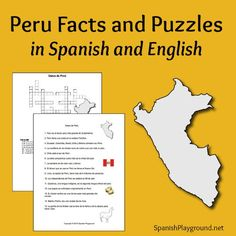 Peru facts for kids in readings and crossword puzzles. Free printables in Spanish and English introduce kids to 15 basic facts about Peru. #Spanish #printables #Peru http://www.spanishplayground.net/peru-facts-puzzles-spanish-english/
