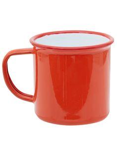 Falcon Red Enamel Mug | Home | Liberty.co.uk
