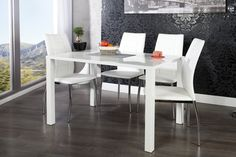 new media test Bois Mdf, Table Salon, Table Design, Laque, Modern Design, Dining Table, Contemporary Dining Table, White People, Beautiful Homes